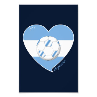 Flag of ARGENTINA SOCCER national team 2014 Photograph