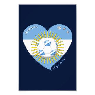 Flag of ARGENTINA SOCCER national team 2014 Art Photo