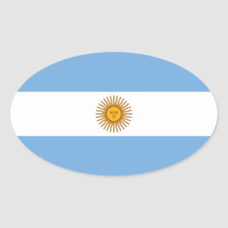 Flag of Argentina Sticker (Oval)