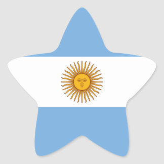 Flag of Argentina Sticker (Star)