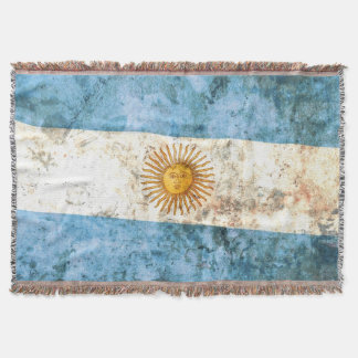 Flag of Argentina Throw Blanket