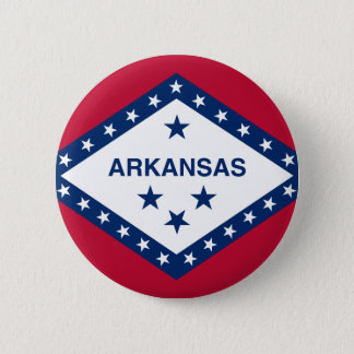 Flag of Arkansas 6 Cm Round Badge