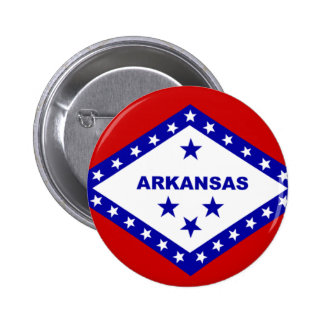 Flag of Arkansas. 6 Cm Round Badge