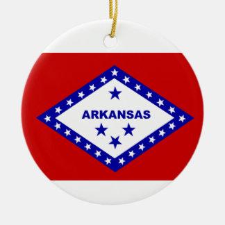 Flag of Arkansas. Christmas Ornament