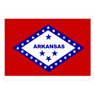 Flag of Arkansas. Postcard