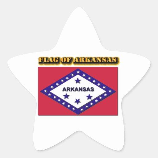 Flag of Arkansas Star Stickers