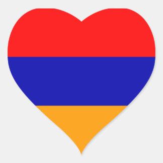 Flag of Armenia Heart Sticker