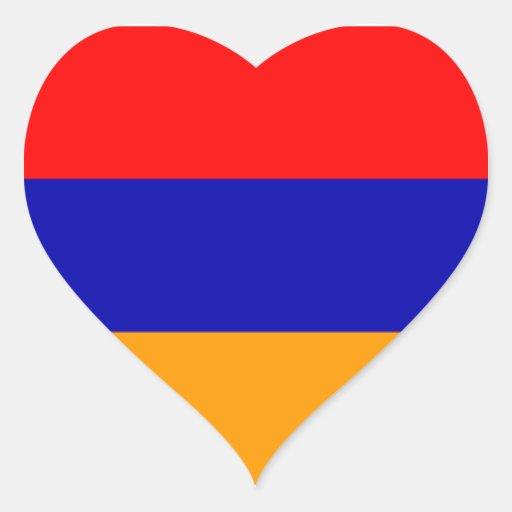 Flag of Armenia Heart Stickers
