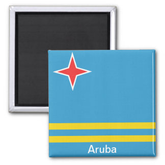 Flag of Aruba Square Magnet