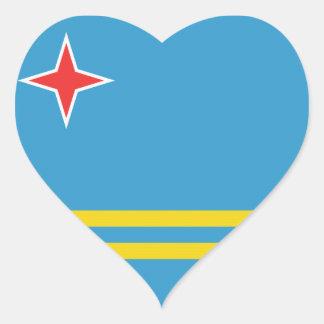 Flag of Aruba Heart Sticker