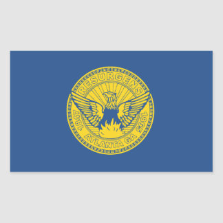 Flag of Atlanta, Georgia Rectangular Sticker