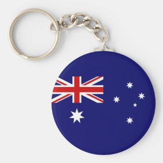 Flag of Australia Basic Round Button Key Ring
