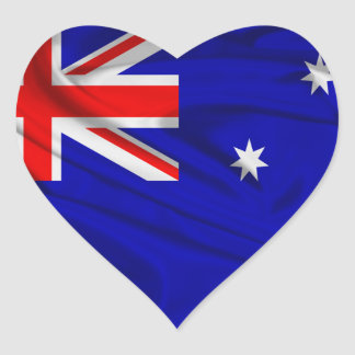 Flag of Australia Heart Sticker