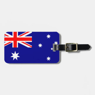 Flag of Australia Luggage Tag w/ leather strap