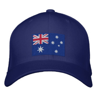 Flag of Australia Personalized Embroidered Hats