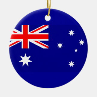 Flag of Australia Round Ceramic Decoration