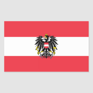 Flag of Austria / Austrian flag Rectangular Sticker