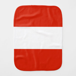 Flag of Austria Burp Cloth