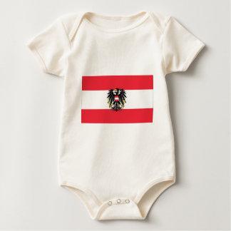 Flag of Austria - Flagge Österreichs Baby Bodysuit