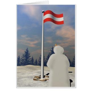 Flag of Austria Greeting Card