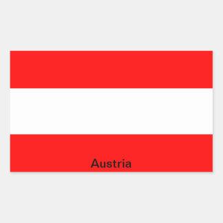 Flag of Austria Rectangular Sticker