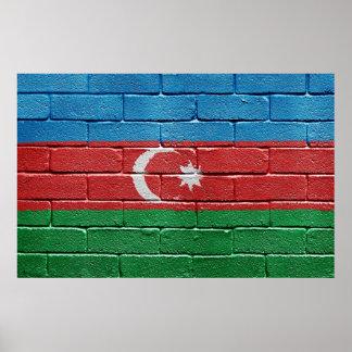 Flag of Azerbaijan Poster