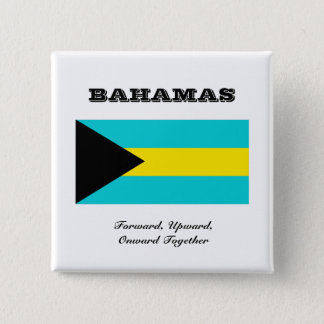 Flag of Bahamas 15 Cm Square Badge