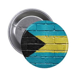 Flag of Bahamas 6 Cm Round Badge