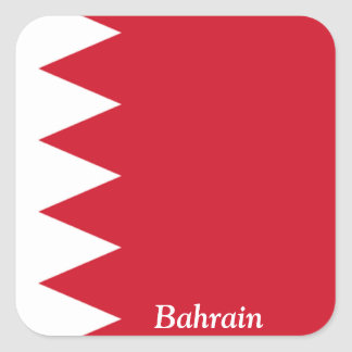 Flag of Bahrain Square Sticker