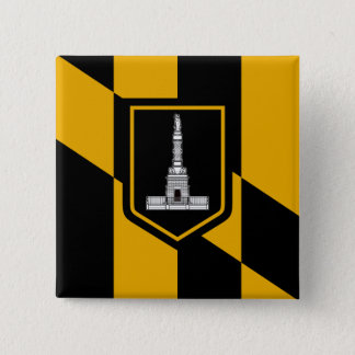 Flag of Baltimore, Maryland 15 Cm Square Badge