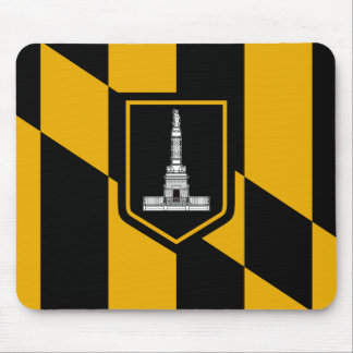 Flag of Baltimore, Maryland Mouse Mat