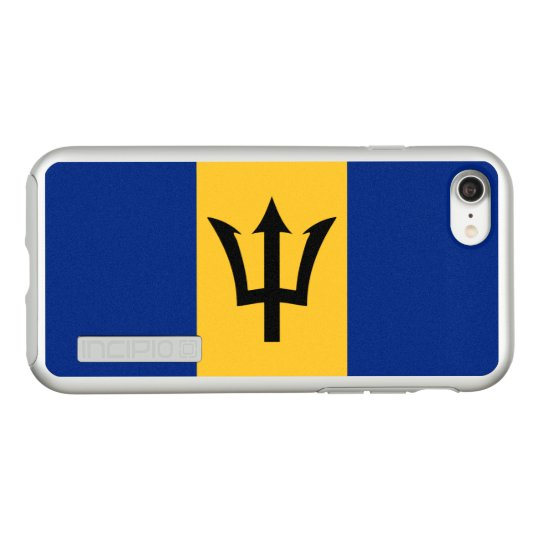 Flag of Barbados Silver iPhone Case