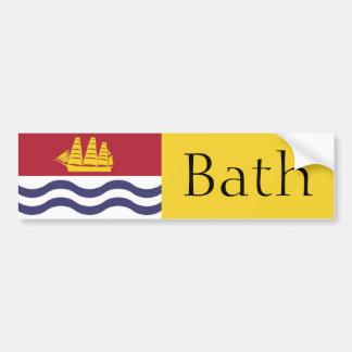 Flag of Bath, Maine bumper sticker