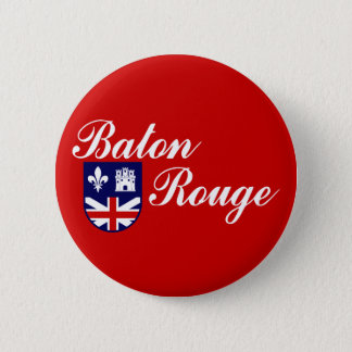 Flag of Baton Rouge, Louisiana 6 Cm Round Badge
