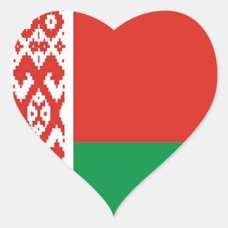 Flag of  Belarus Heart Sticker