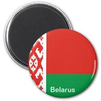 Flag of  Belarus 6 Cm Round Magnet