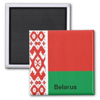 Flag of  Belarus Square Magnet