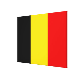 Flag of Belgium Canvas Print