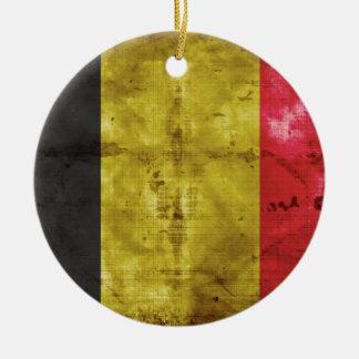 Flag of Belgium Round Ceramic Decoration