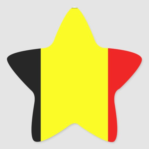 Flag of Belgium Star Stickers