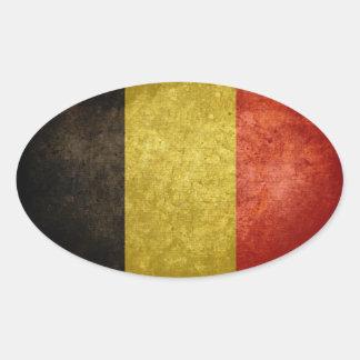 Flag of Belgium Oval Stickers