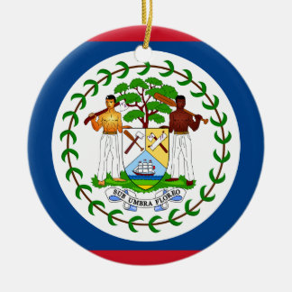 Flag of Belize Christmas Ornament