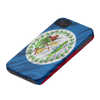 Flag of Belize iPhone 4/4S Case-Mate Barely There™