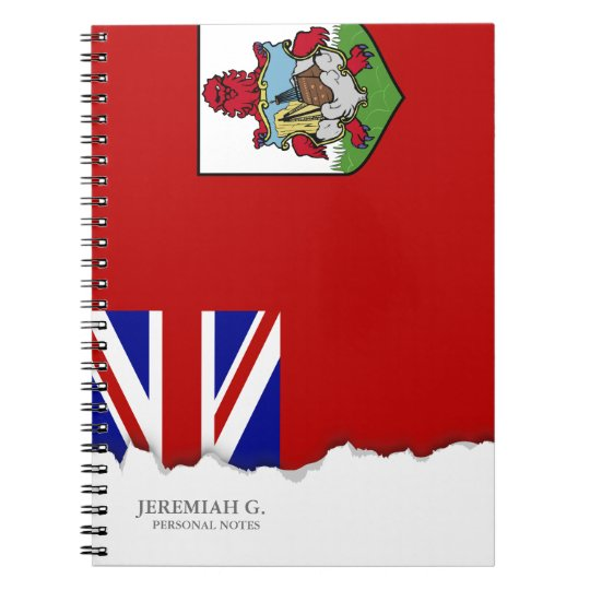 Flag of Bermuda Spiral Notebook