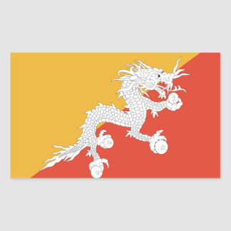 Flag of Bhutan Rectangular Sticker