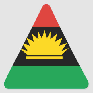Flag of Biafra (Bịafra) Triangle Sticker