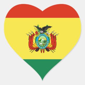 Flag of Bolivia Heart Stickers