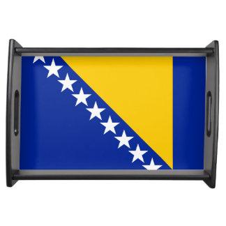 Flag of Bosnia and Herzegovina Serving Tray