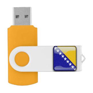 Flag of Bosnia-Herzegovina Swivel USB 2.0 Flash Drive