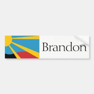 Flag of Brandon, South Dakota bumper sticker